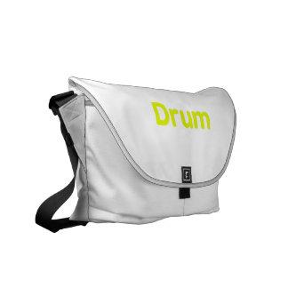 drum text yellow music design messenger bags