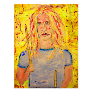 drum therapy Drummer Girl Postcard