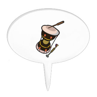 drum two headed hand drum dark turned.png cake topper