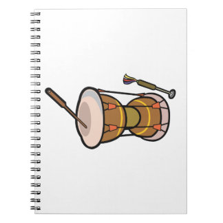 drum two headed hand drum.png spiral notebook