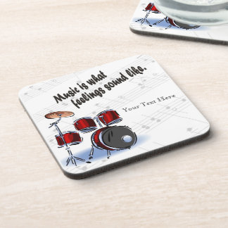 Drum Version What Feelings Sound Like - Customize Beverage Coaster