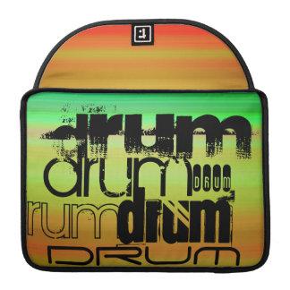 Drum; Vibrant Green, Orange, & Yellow Sleeve For MacBooks