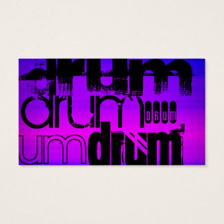 Drum; Vibrant Violet Blue and Magenta Business Card