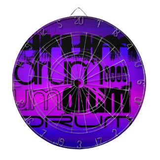 Drum; Vibrant Violet Blue and Magenta Dartboard