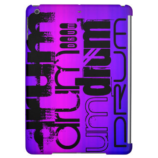 Drum; Vibrant Violet Blue and Magenta Case For iPad Air