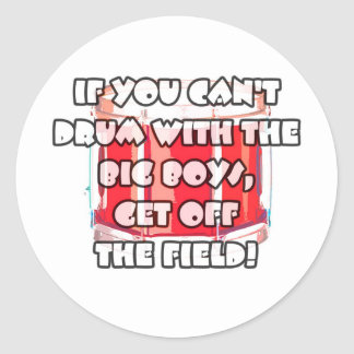 Drum With The Big Boys 1 Classic Round Sticker