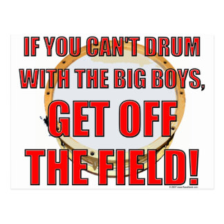 Drum With The Big Boys 2 Postcard