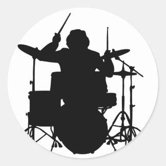 drumer.png classic round sticker