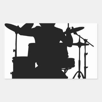 drumer.png rectangular sticker