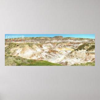 Drumheller Badlands Landscape Photo Poster