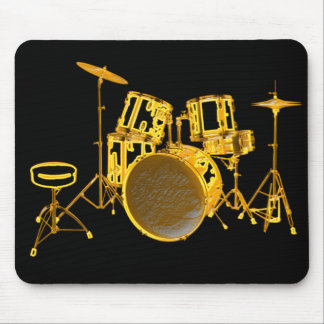 Drumkit - Yellow Mouse Pad