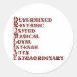 Drumline Definition Classic Round Sticker