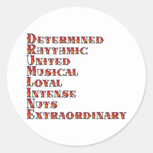 Drumline Definition Classic Round Sticker Zazzle