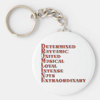 Drumline Definition Keychain