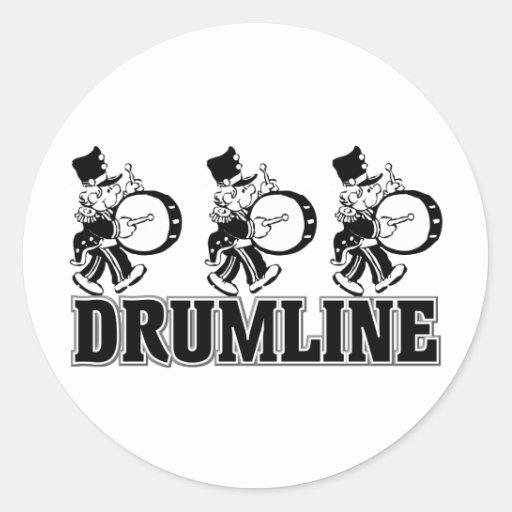 Drumline Drummers Classic Round Sticker