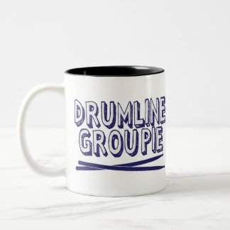 Drumline Groupie with Sticks Two-Tone Coffee Mug