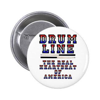 Drumline Heart Beat Pinback Button
