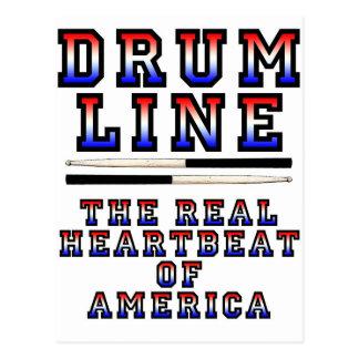 Drumline Heart Beat Postcard