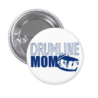Drumline Mom Blue Pinback Button