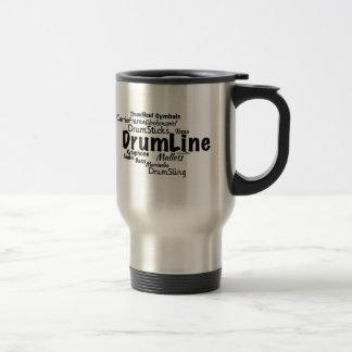 Drumline Word Cloud Black Text 15 Oz Stainless Steel Travel Mug