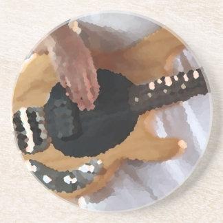 drumm painterly de cuatro de secuencia del bajista posavasos diseño