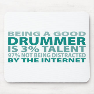 Drummer 3% Talent Mouse Pad