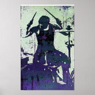 Drummer 5, Copyright Karen J Williams Print