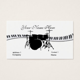 Drummer and Keyboard Business Card