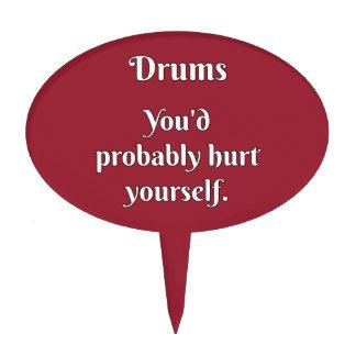 Drummer Attitude! Cake Topper