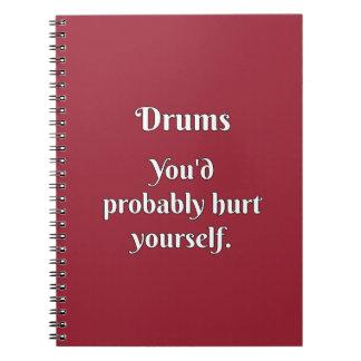 Drummer Attitude! Spiral Notebook