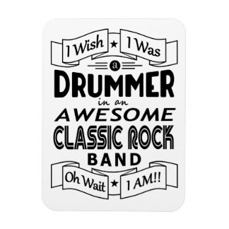 DRUMMER awesome classic rock band (blk) Magnet