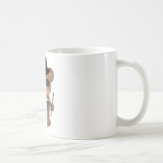 Drummer bear coffee mug