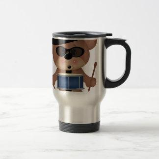 Drummer bear travel mug