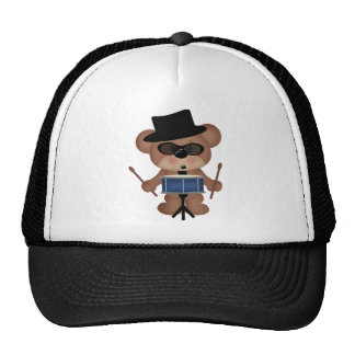 Drummer bear trucker hat