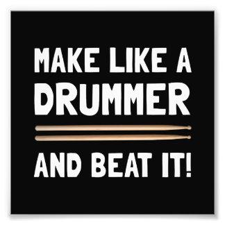 Drummer Beat It Photo Print