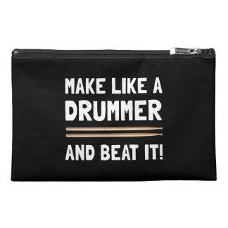 Drummer Beat It Travel Accessory Bag