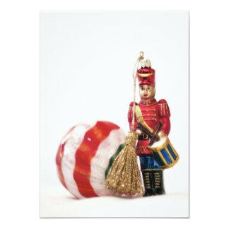 Drummer Boy and Christmas Ball Card