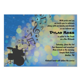Drummer Boy  Bar Mitzvah Invitation