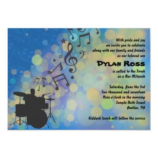 Drummer Boy  Bar Mitzvah Invitation