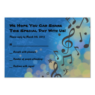 Drummer Boy Bar Mitzvah Invitation Reply Card