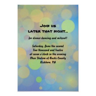 Drummer boy Bar Mitzvah Reception Party Card
