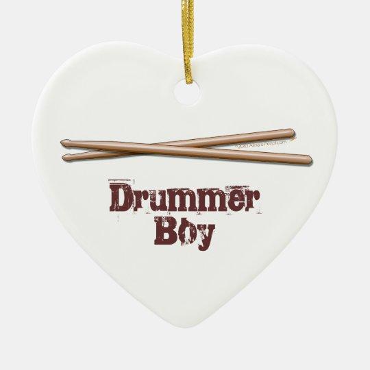 Drummer Boy Drumsticks Customizable Ornament