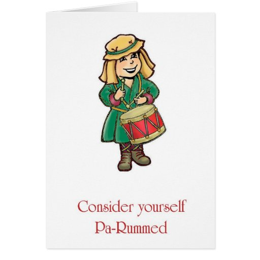 Drummer Boy Pa-Rum Holiday Greeting Cards