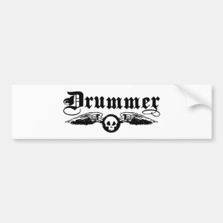 Drummer Car Bumper Sticker