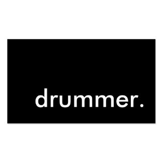 drummer. business card