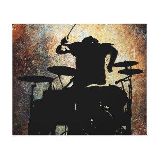 Drummer canvas 2, Copyright Karen J Williams