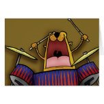 Drummer Cat Greeting Cards