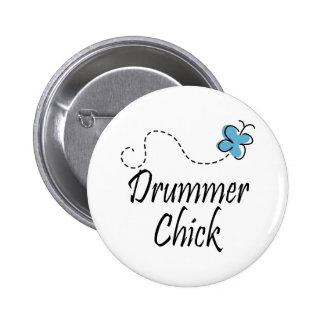 Drummer Chick Button