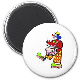 drummer clown magnet