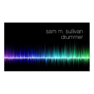 Drummer Colorful Sound Wave Musician Business Card